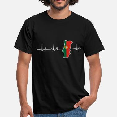 Heartbeat - Portugal - T-skjorte for menn