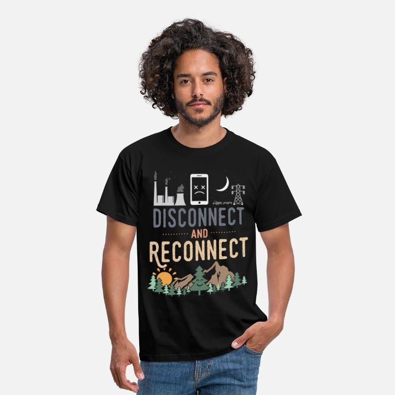 Scout T-Shirts - Disconnect And Reconnect - Men's T-Shirt black