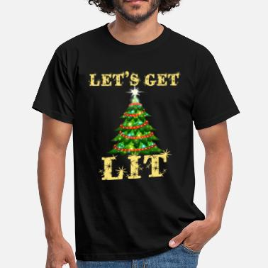 Workshop Let's Get Lit Funny Christmas Drinking - Men's T-Shirt
