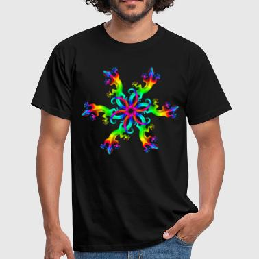 Goa Gecko, lizard, rainbow, Goa, Trance, Psytrance, - Men's T-Shirt