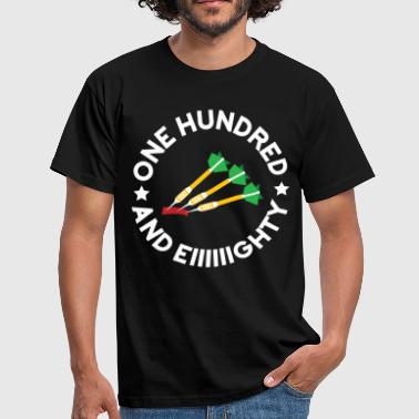 One hundred and eighty Dart - Männer T-Shirt