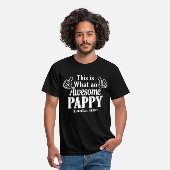 Dad T-Shirts - This is What An Awesome Pappy looks like  - Men's T-Shirt black