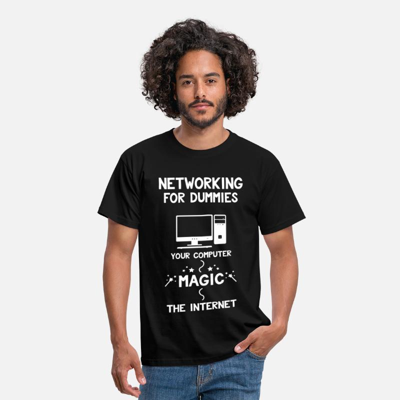 Network T-Shirts - Networking for Dummies - Men's T-Shirt black