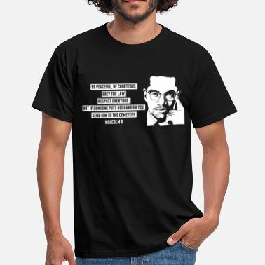 Black History Malcolm X - Men's T-Shirt