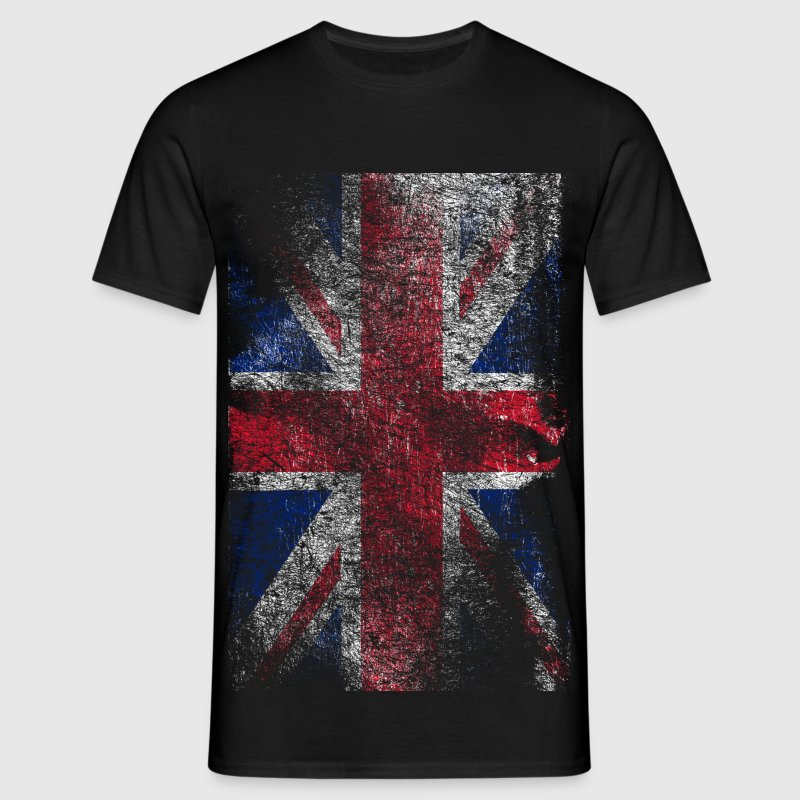union jack - used look - T-shirt Homme