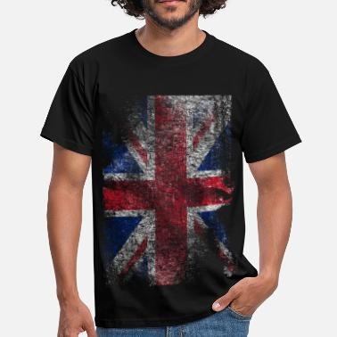 Bandiera union jack - used look - Maglietta da uomo