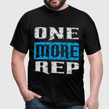 one more rep white blue - Männer T-Shirt