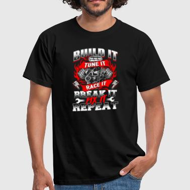 Build It Tune It Race It - racing racing car race - Men's T-Shirt