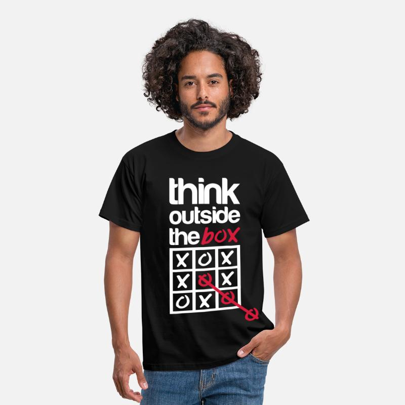 Box Magliette - Think outside the box - Maglietta standard da uomo nero