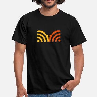 Web rss kiss - Mannen T-shirt