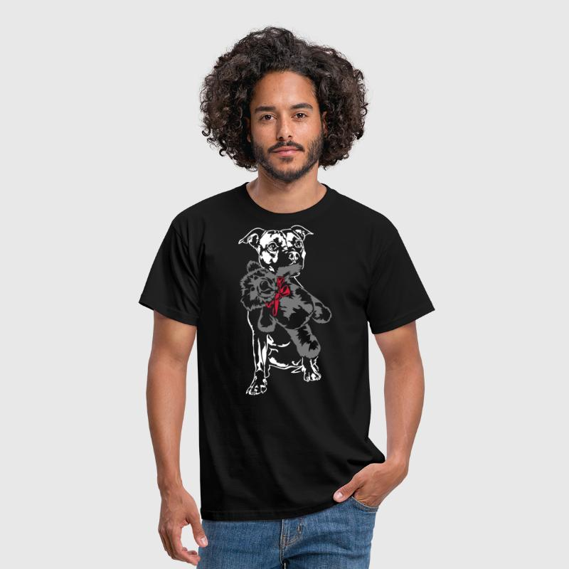 Staffordshire with Teddy - Men's T-Shirt