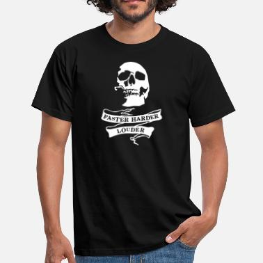 Heavy metal_skull - Men's T-Shirt