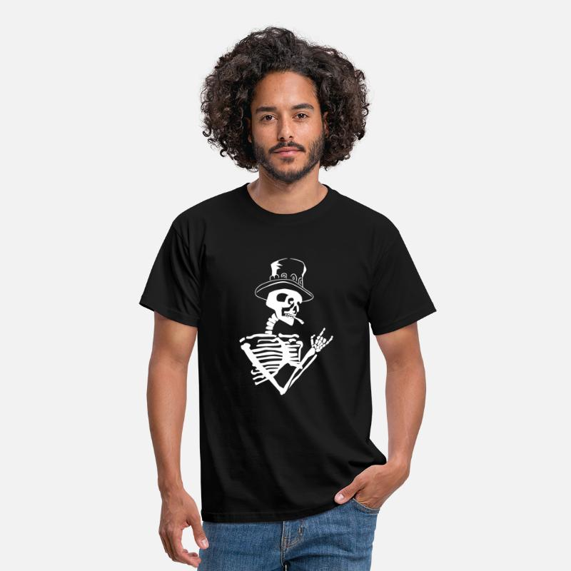 Skeleton T-Shirts - skeleton rock - Men's T-Shirt black