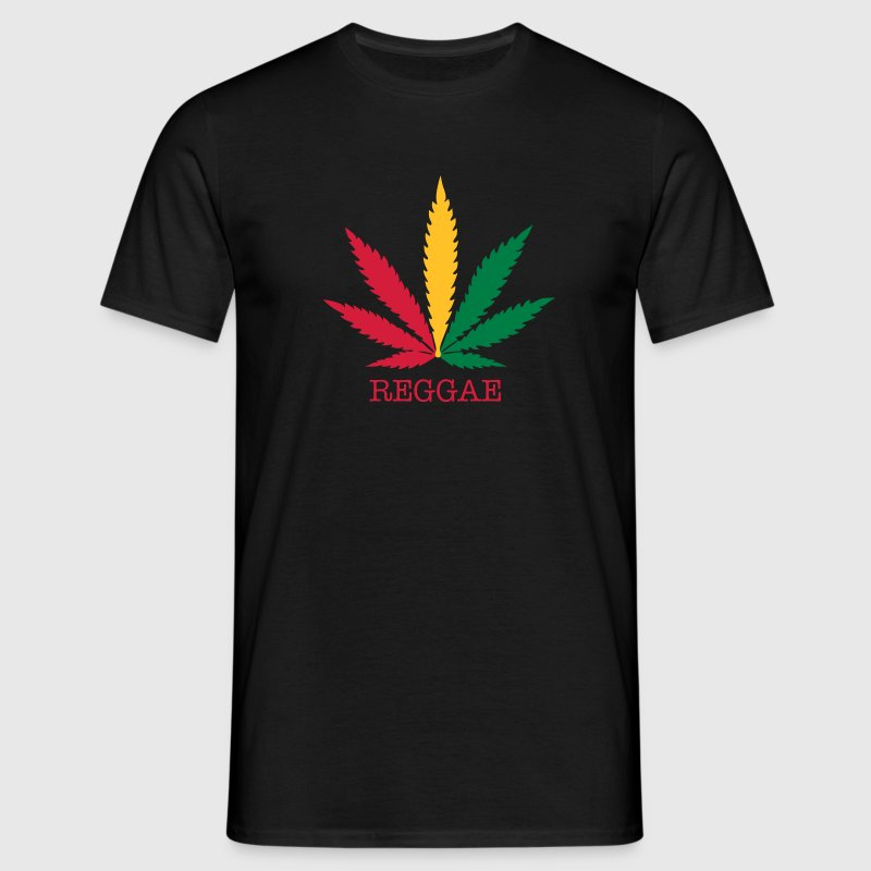 love reggae weed marijuana - Men's T-Shirt
