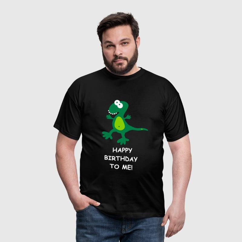 Dino Happy Birthday Geburtstag Party Fun Comic - Men's T-Shirt