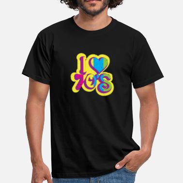 Colorful 70s I LOVE 70s I Neon Colors Splash - Men's T-Shirt