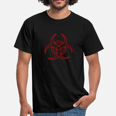 Outline Vector biohazard - outline - Men's T-Shirt
