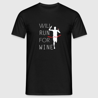 will run for wine - T-shirt Homme