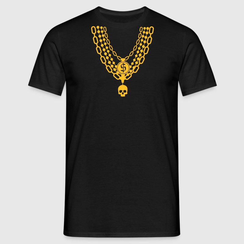 gold chain necklace - Camiseta hombre