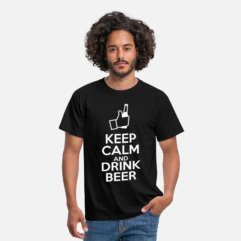 Calm T-Shirts - Keep calm and drink beer - Men's T-Shirt black