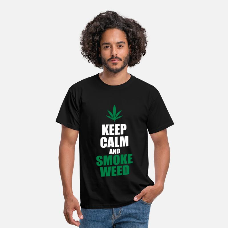 Weed T-Shirts - Keep Calm and Smoke Weed - Men's T-Shirt black