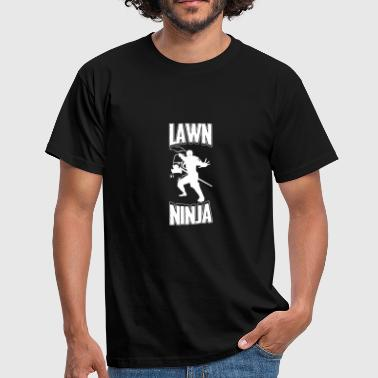 Lawn Lawn Ninja Funny Ninja Lawn Mower Weapon Fighter - Men's T-Shirt