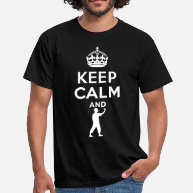 Cadeau Keep Calm - Dart - Mannen T-shirt