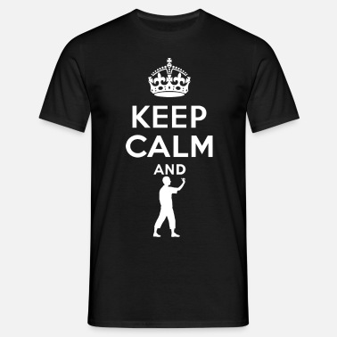 Dart Keep Calm - Dart - Mannen T-shirt