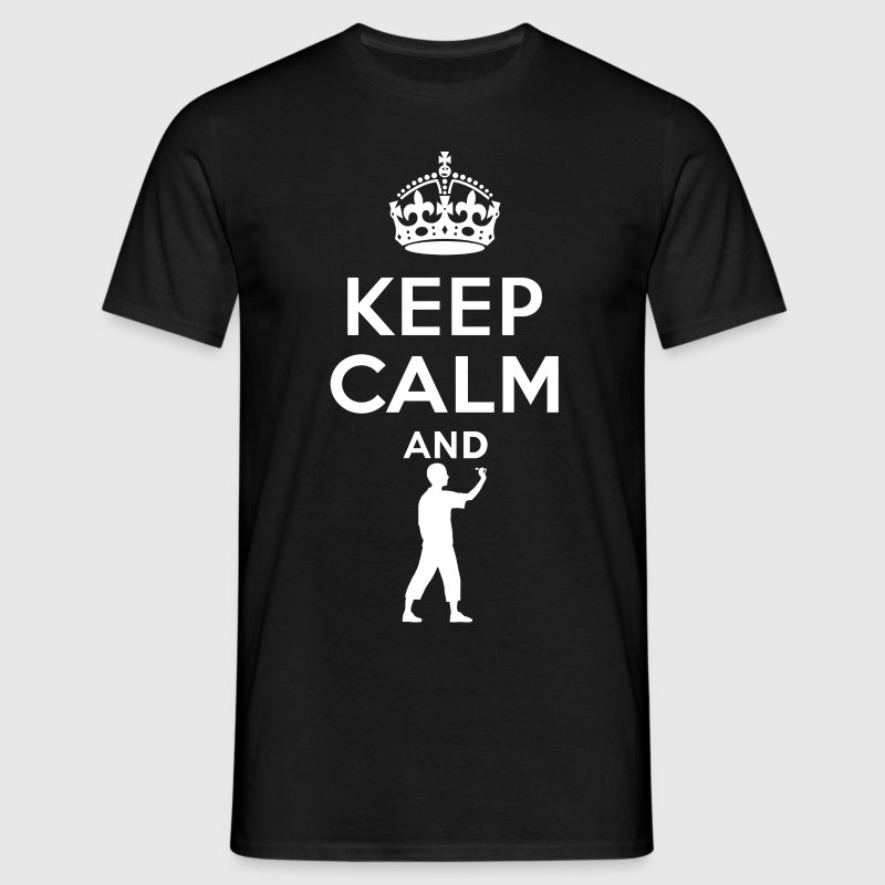 Keep Calm - Dart - Mannen T-shirt