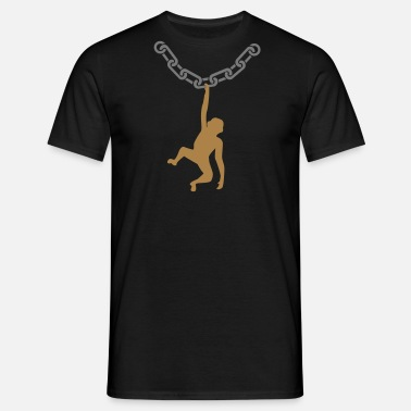 Link Monkey on a chain - Men's T-Shirt