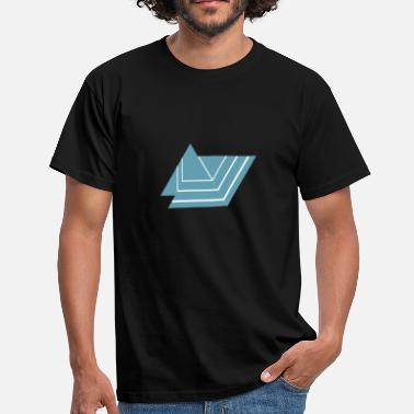 Triangle Shape Triangle shaped logo, shape triangle - Men's T-Shirt