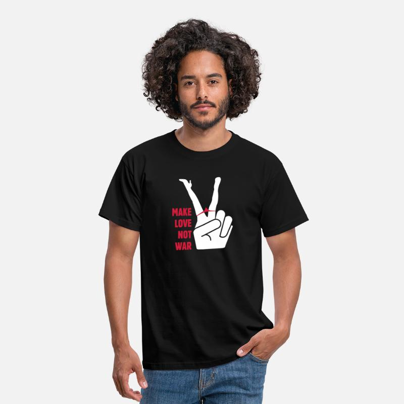 Love T-Shirts - Make love not war - Men's T-Shirt black