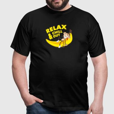 Relax and chill out | Monkey on Banana - Men's T-Shirt