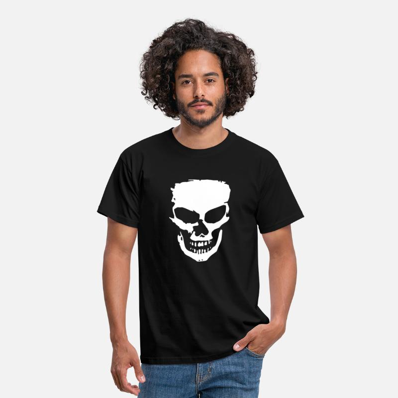 Skull T-Shirts - angry skull - Men's T-Shirt black