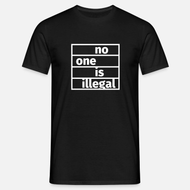 Refugees Welcome No One is Illegal - Camiseta hombre