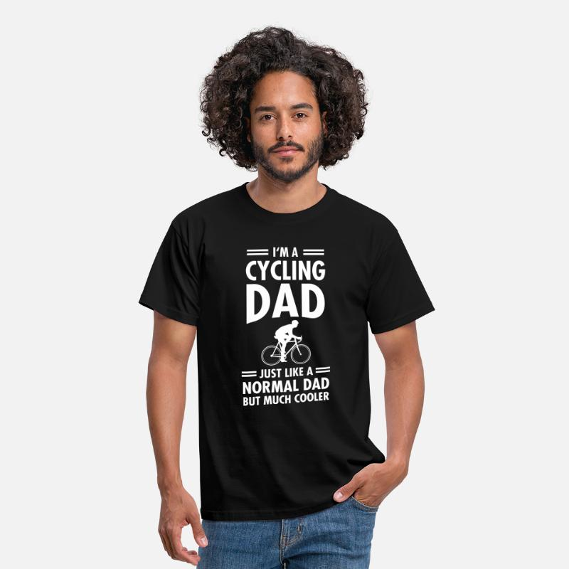 Bike T-shirts - I'm A Cycling Dad... - T-shirt herr svart