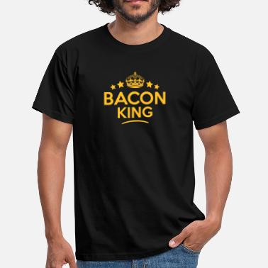 King Of Bacon bacon king keep calm style crown stars - Men's T-Shirt