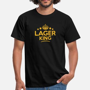 Lager lager king keep calm style crown stars - Men's T-Shirt