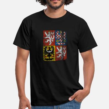 Half Czech Czech Coat of Arms Czech Republic Symbol - Men's T-Shirt