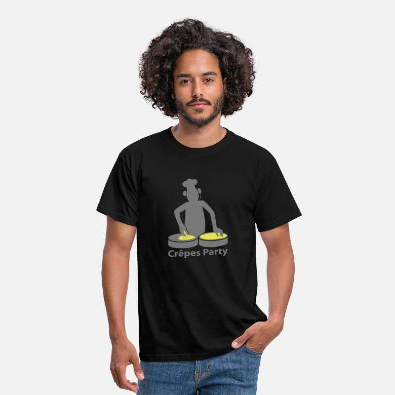 Crêpes T-shirts - crepes party - T-shirt Homme noir