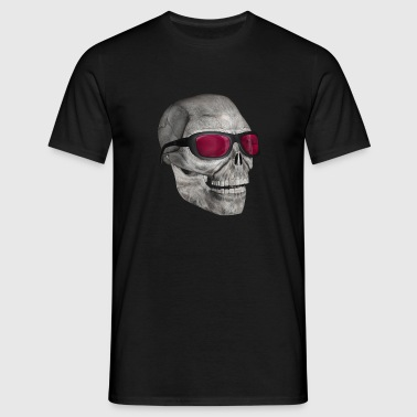 skull med solbriller - skull with sunglasses - Herre-T-shirt