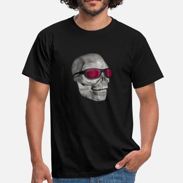 Grinsen skull with sunglasses 3000 - Männer T-Shirt