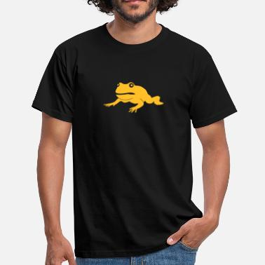 Illustration grumpy frog - Herre-T-shirt