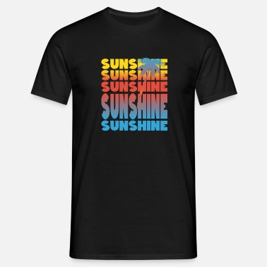 Last Minute Single Sunshine sun palm motive summer - Men's T-Shirt