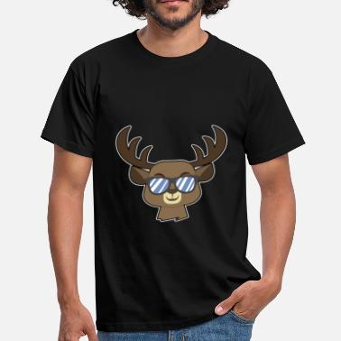 Shade reindeer with shades - Men's T-Shirt