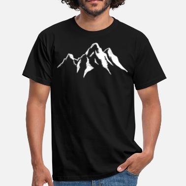 Snow Mountains Mountain Landscape Mountains Alps Ski Snow - Men's T-Shirt