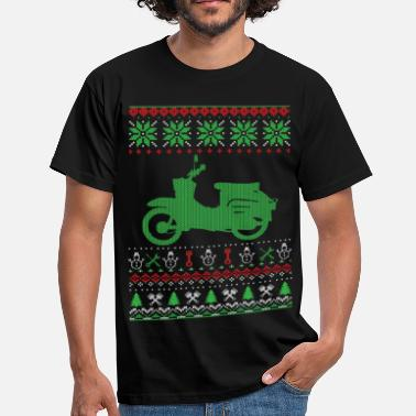 Moped Christmas Ugly Sweater - Men's T-Shirt
