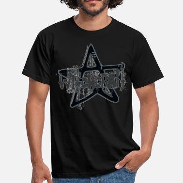 Point witchcraft witch pentacle pentagram five star band - Men's T-Shirt