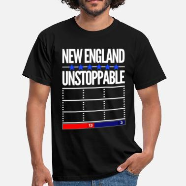 New England Patriots New England 6 Star superbowl winner unstoppable - Men's T-Shirt