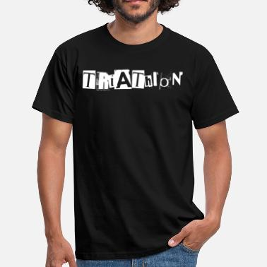 Le Chantage lettrage triathlon extraits de journaux - T-shirt Homme